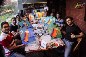 GroupArtCircle Beer Me Up painting party