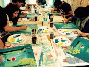 GroupArtCircle Monsoon Love Walk painting party