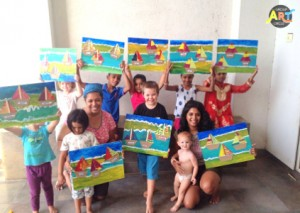 GroupArtCircle kids painting party