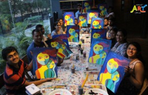 GroupArtCircle Mother's Day painting party