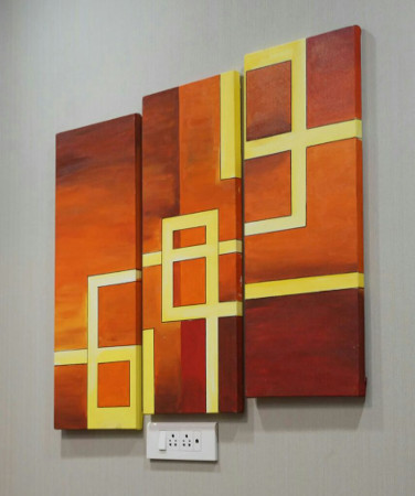 Creative Strokes - Canvas Painting - Artwork Installation