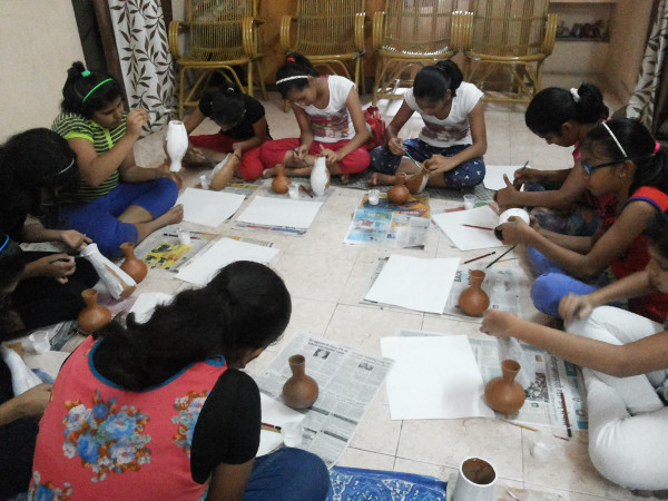 Creative Strokes - Pot Painting Workshop