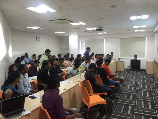 Attendees at the Pune Mobile Developers Meetup