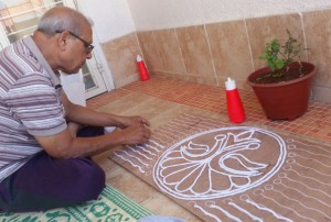 Gita's Lippan Art Workshop Participant