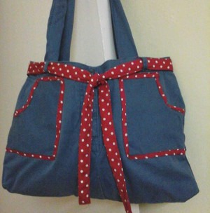 Nandita's Creations - Jeans bag - Best out of Waste