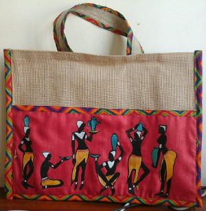 Nandita's Creations - Painted Jute bag