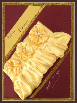 Fashion Fundas - Fabric flowers made by Designer Sumaiya to embellish the pretty purse