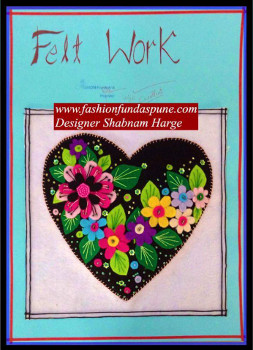 Fashion Fundas - Designer Shabnam made this beautiful felt fabric piece of art
