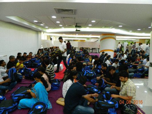 Amdocs India hosted Day 9 of school kitting activity