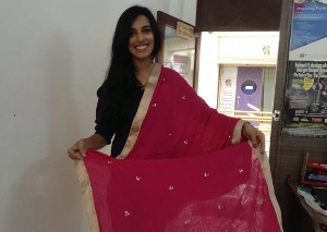 Fashion Fundas - Designer Nazia Khan with her self designed Dupatta