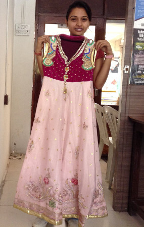 Fashion Fundas - Anarkali from recycled Lehanga by Fashion Designer Aruna Sharma
