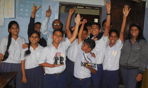 IndiaFIRST™ Robotics Academy Workshop in a school