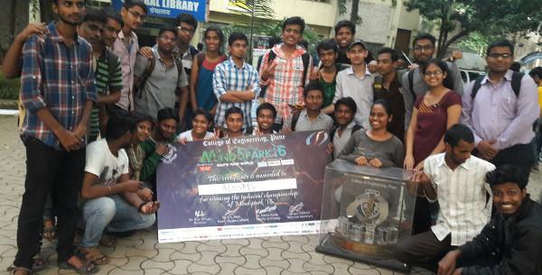 Team AISSMS wins Technical Championship of MindSpark 2016