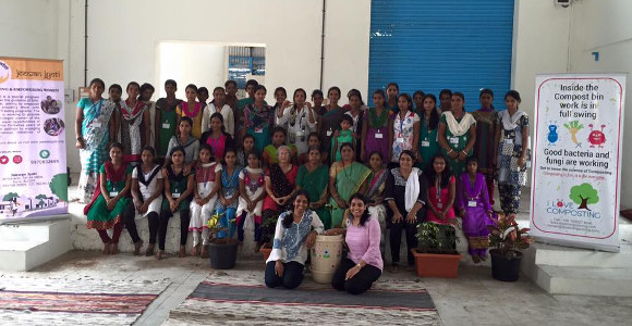 ILC - Dhanashree explained Composting Practices at Jeevan Jyoti Institute for Women Empowerment