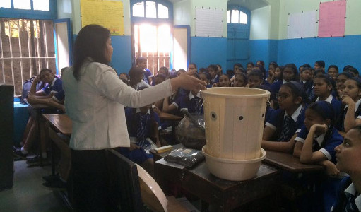 ILC - Dhanashree explaining about Composting in a school