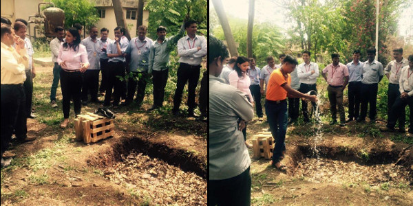 ILC - Dhanashree explaining Composting practices to Sharp India Pvt. Ltd. staff