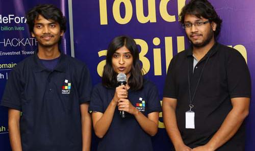 CoEP Team (L to R) - Ajit Rajurkar, Reshul Dani, Jay Lohokare