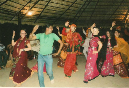 URDA - Raju sir teaching Dandiya to foreigners