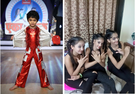 (Left) - URDA student Mihir Soni has won Marathi Dance Reality Show Eka Peksha Ek in 2010. (Right) - URDA students win first prize in group dance competition organised by Sports Association of India in Nov, 2016