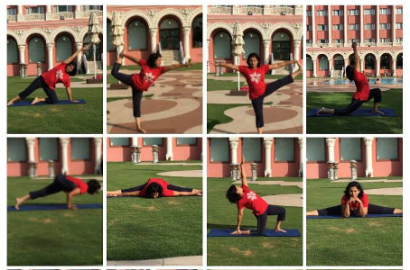 Mind and Body Yoga - Manali Deo showcasing Yogasanas