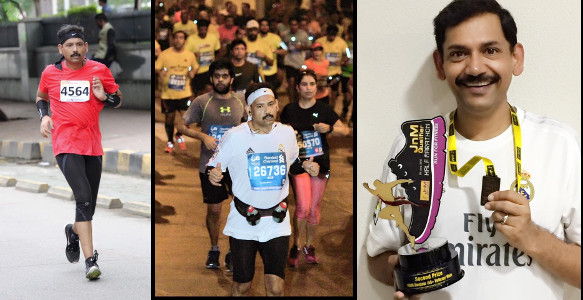Anurag Gupta Joints And Motions Half Marathon Podium Finish