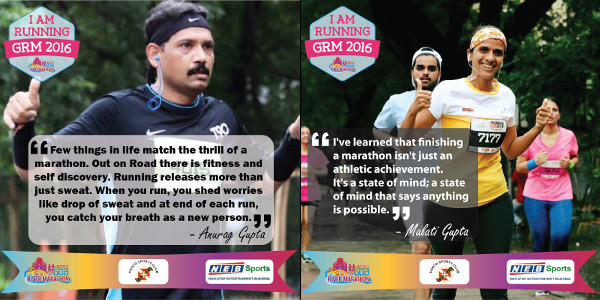 Anurag Gupta, Malati Gupta as Brand Ambassadors for Goa River Marathon 2016