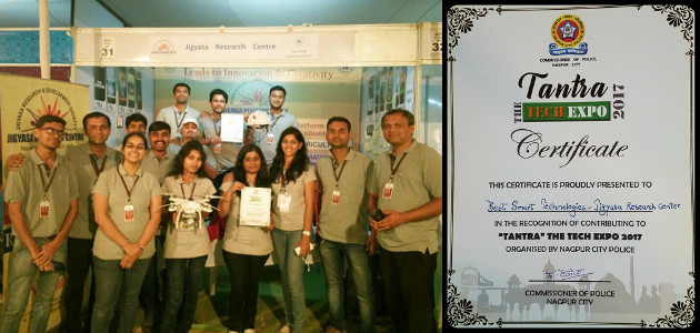 Jigyasa Research Centre wins Best Smart Technology Award at Tantra Tech Expo in Nagpur