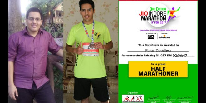 Parag Doodhya took up running to overcome kidney disease