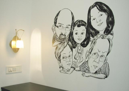 Prashant Arts - Wall Caricatures