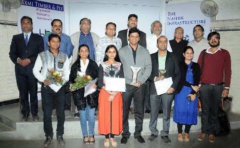 Aishwarya Andhrutkar at Nashik Infrastructure Magazine's Interior Design Awards ceremony