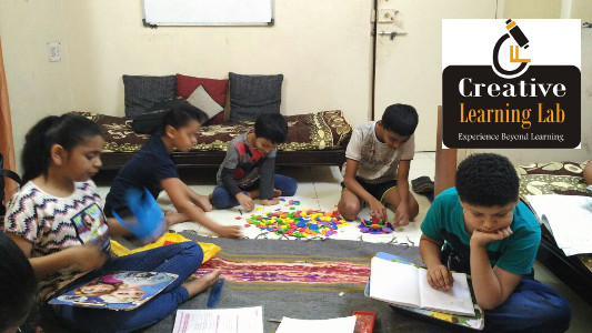 Creative Learning Lab by Yogini Gandhi - Students engrossed in a Maths session