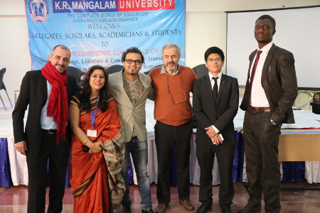 Shikha Sharma with delegates of International conference - ELLCIATLS 2017 at K R Mangalam University
