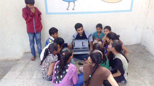 Keval Purohit of VGEC at Badaj village