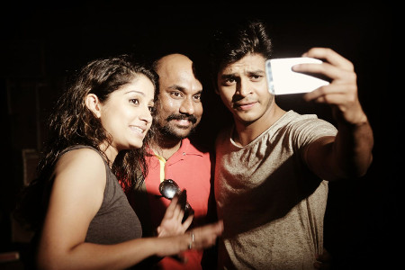 Makarand Sawant with Music Video Actors