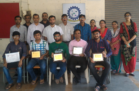 Team VGEC felicitated by faculty on receiving GTU ISCALE Award