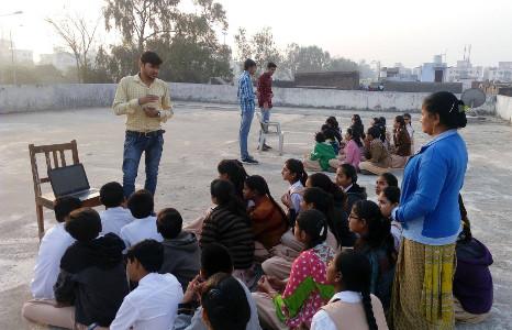 Team VGEC organizing a Digital Literacy Camp in a school