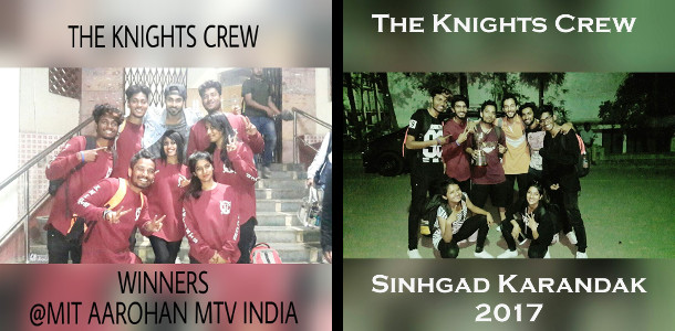 The Knights crew with awards of 2017