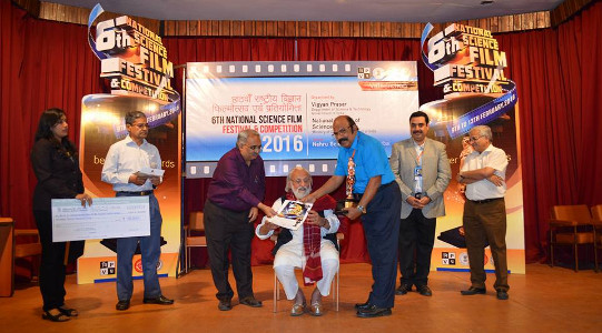 G S Unnikrishnan Nair - 6th National Science Film Festival and Competition 2016 - Bronze Beaver Award