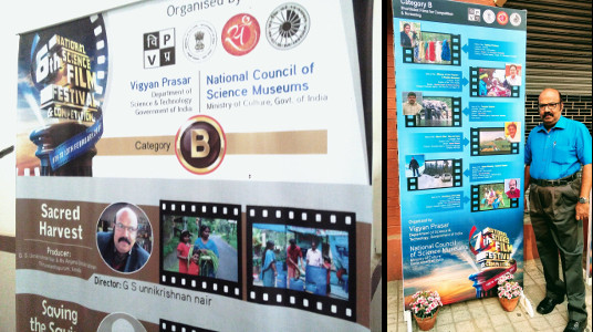 G S Unnikrishnan Nair - Documentary showcase at National Science Film Festivals