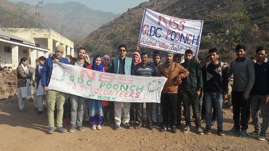Professor Shamim Banday is the NSS Program Officer of GDC Poonch