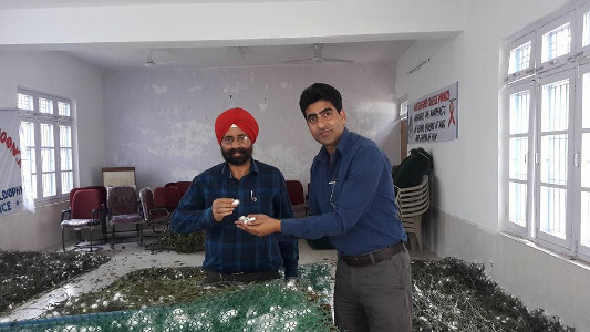 Professor Shamim Banday with Principal of GDC Poonch Prof Tajinder Singh