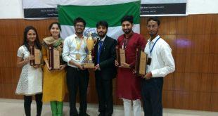 Team Bol - Debating Society of Jamia Millia Islamia - with AMU trophy April 2017