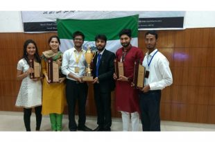 Team Bol - Debating Society of Jamia Millia Islamia - with AMU trophy April 2017
