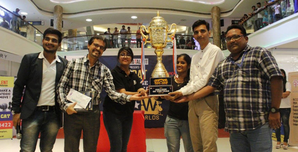 SCET cultural team wins War of Worlds, Surat, College of the Year trophy