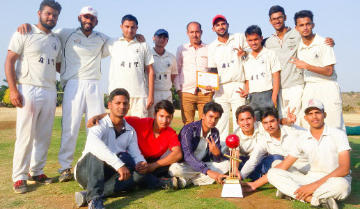 Team AIT winning Cricket Districts 2016-17