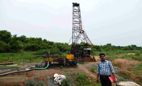 Dr Daramsothu Seetharam at Singareni coal mine