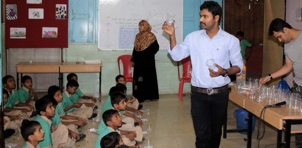 Parag Gore Science Popularization Activity in a school