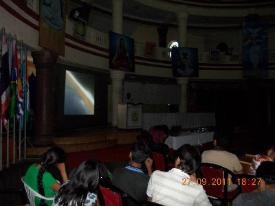 Parag Gore during MIT College Astronomy club inauguration in 2011