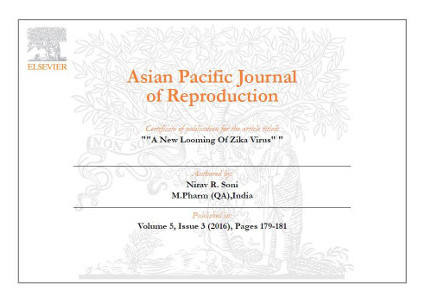 Nirav Soni Certificate of Publishing Article in International Journal