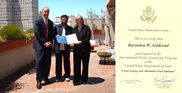 Dr Ravindra Gaikwad International Visitor Leadership Program USA 2008